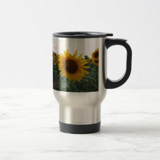 Sunflower Closeup Travel Mug