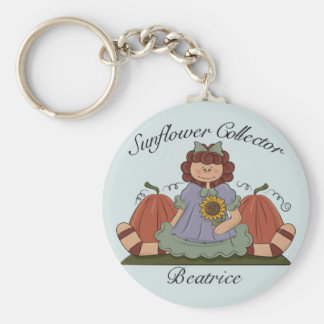Sunflower Collector Series Basic Round Button Key Ring