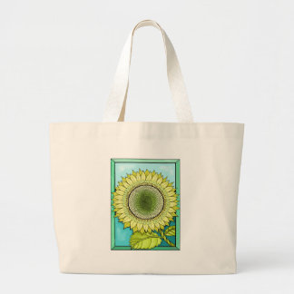 Sunflower Color Large Tote Bag
