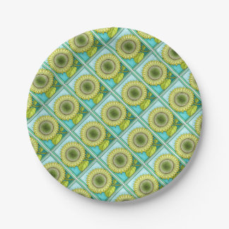Sunflower Color Paper Plate