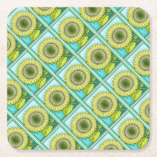 Sunflower Color Square Paper Coaster