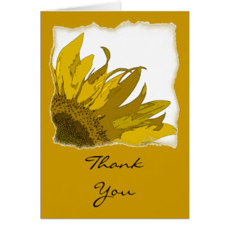 Sunflower Corner Bridesmaid Thank You Card