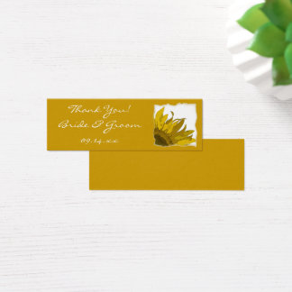 Sunflower Corner Wedding Favor Tags