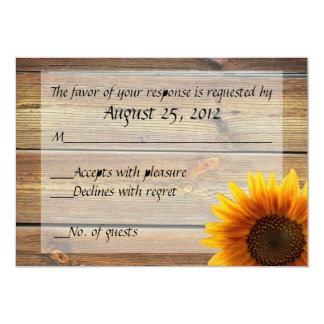 Sunflower Country RSVP card 13 Cm X 18 Cm Invitation Card
