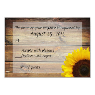 Sunflower Country RSVP card 9 Cm X 13 Cm Invitation Card