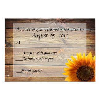 Sunflower Country RSVP card Custom Announcements