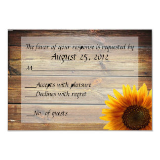 "Sunflower Country RSVP card 3.5"" X 5"" Invitation Card"