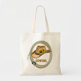 Sunflower Cowgirl Tote Bag