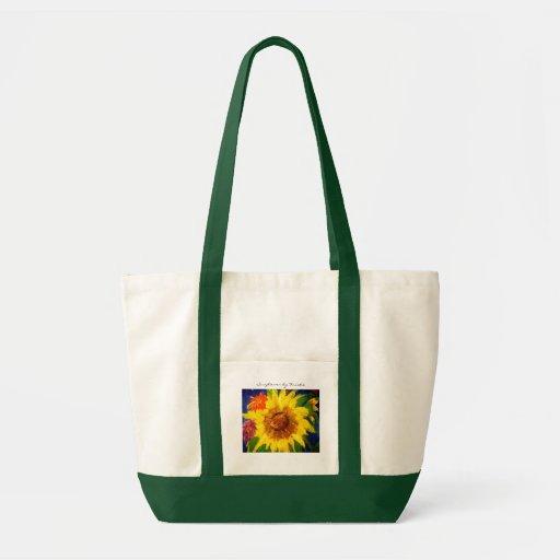 Sunflower Custom Tote Green Bag