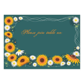 Sunflower & Daisy Wedding Party Table Place Card Business Card Templates