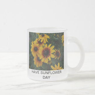 SUNFLOWER DAY FROSTED GLASS MUG