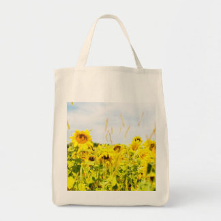Sunflower Days Grocery Tote Grocery Tote Bag