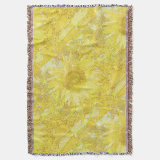 Sunflower Dazzle Throw Blanket