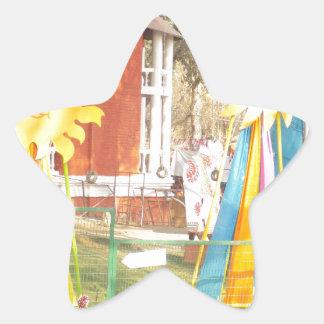 SUNFLOWER decorations at Surajkund Festival India Star Sticker