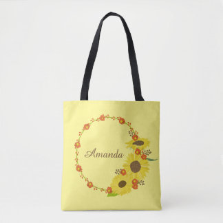 Sunflower delight customize tote bag