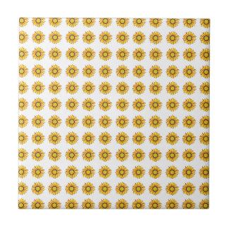 Sunflower Design Artistic Flowers Pattern Ceramic Tile