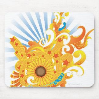 Sunflower Design Mouse Pad