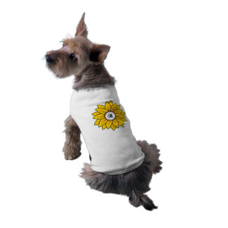 Sunflower Design Pet Tank Tee