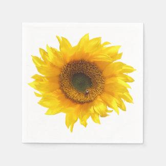sunflower disposable napkin