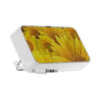 Sunflower Doodle Custom Speaker