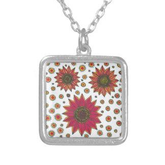 Sunflower Doodle Pendants