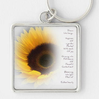 Sunflower Dream Poem Key Chain