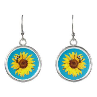 """""""Sunflower"""" Drop Earrings"""