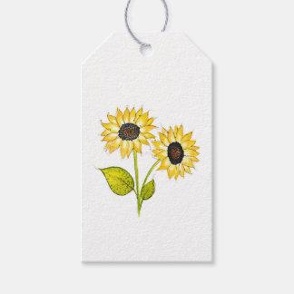 'Sunflower Duet' Gift Tags