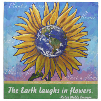 Sunflower Earth Art Napkin