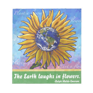 Sunflower Earth Art Notepad