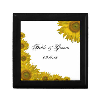 Sunflower Edge Wedding Gift Box
