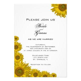Sunflower Edge Wedding Invitation