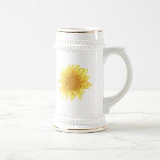 Sunflower Elegance Beer Steins