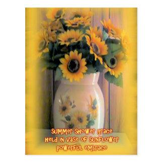 Sunflower Embrace Postcard