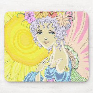 Sunflower Fairy Mouse Pad