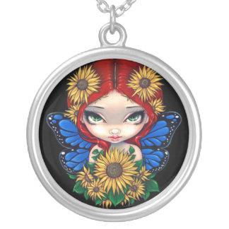 Sunflower Fairy NECKLACE flower pendant