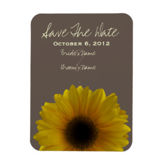 Sunflower Fall Wedding Save The Date Magnet
