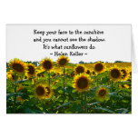 Sunflower Field Encouragement Greeting Card