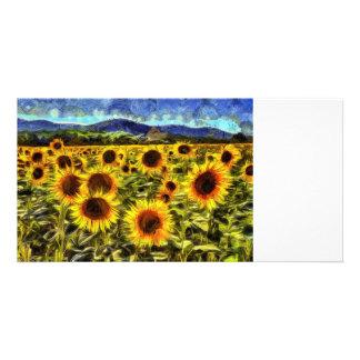 Sunflower Field Van Gogh Card