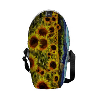 Sunflower Field Van Gogh Courier Bags