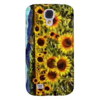 Sunflower Field Van Gogh Galaxy S4 Cover