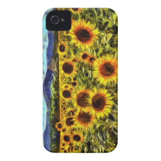 Sunflower Field Van Gogh iPhone 4 Cover