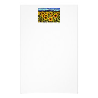 Sunflower Field Van Gogh Stationery