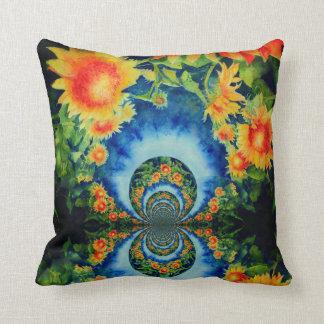 Sunflower fields forever cushion