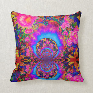 Sunflower fields forever -pink cushion