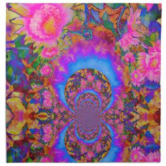 Sunflower Fields Forever - pink Napkin