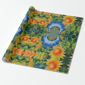 Sunflower fields forever wrapping paper