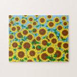 Sunflower Fields Jigsaw Puzzles