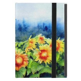 Sunflower Fields - morning mist iPad Mini Cases