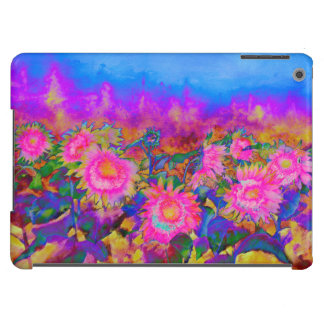 Sunflower fields - pink iPad air covers